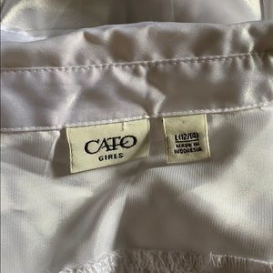 Cato Shirts & Tops - Girls white silky blouse with tie